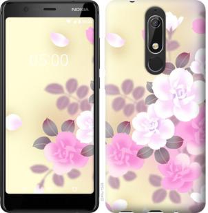 Чехол на Nokia 5.1 Японские цветы