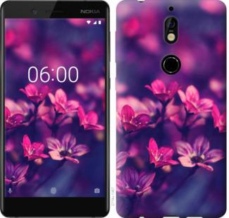 Чехол на Nokia 7 Пурпурные цветы