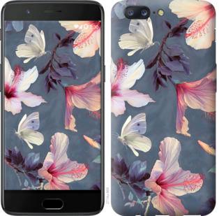 Чехол на OnePlus 5 Нарисованные цветы