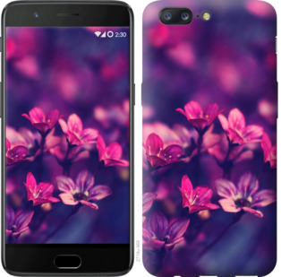 Чехол на OnePlus 5 Пурпурные цветы