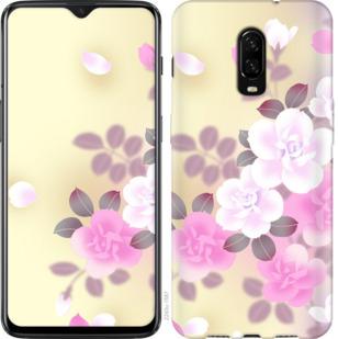 Чехол на OnePlus 6T Японские цветы