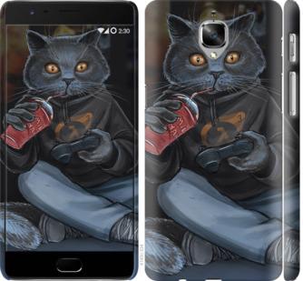 Чехол на OnePlus 3T gamer cat