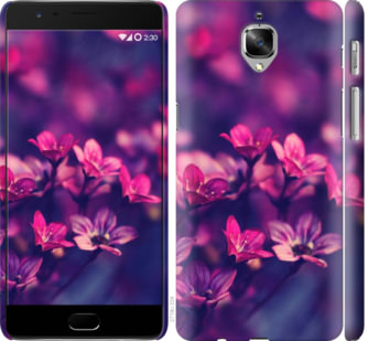 Чехол на OnePlus 3T Пурпурные цветы