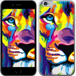 Чехол на OnePlus 7 Разноцветный лев