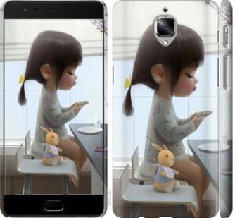 Чехол на OnePlus 3 Милая девочка с зайчиком