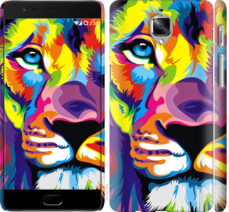 Чехол на OnePlus 3T Разноцветный лев