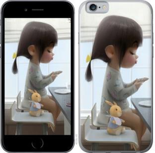 Чехол на OnePlus 7 Милая девочка с зайчиком