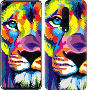 Чехол на OnePlus 7 Pro Разноцветный лев