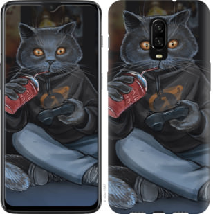 Чехол на OnePlus 6T gamer cat