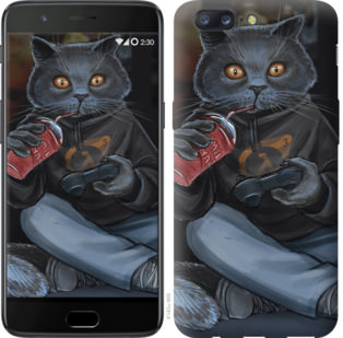 Чехол на OnePlus 5 gamer cat