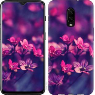 Чехол на OnePlus 6T Пурпурные цветы