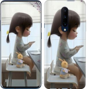 Чехол на OnePlus 7 Pro Милая девочка с зайчиком