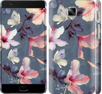 Чехол на OnePlus 3 Нарисованные цветы