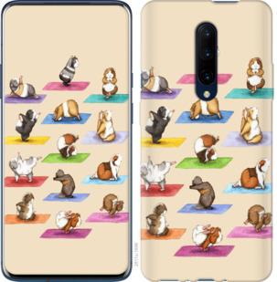 Чехол на OnePlus 7 Pro Йога морских свинок