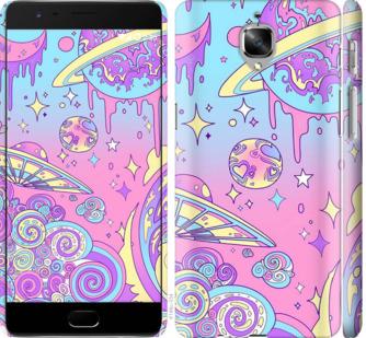 Чехол на OnePlus 3T Розовая галактика