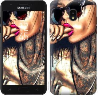 Чехол на Samsung Galaxy J7 2018 Девушка в тату