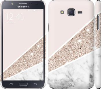 Чехол на Samsung Galaxy J7 J700H Пастельный мрамор