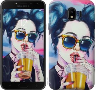 Чехол на Samsung Galaxy J4 2018 Арт-девушка в очках