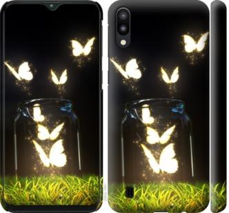 Чехол на Samsung Galaxy M10 Светящиеся бабочки