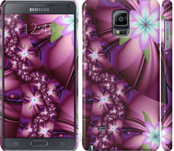 Чехол на Samsung Galaxy Note 4 N910H Цветочная мозаика