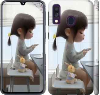 Чехол на Samsung Galaxy A40 2019 A405F Милая девочка с зайчиком