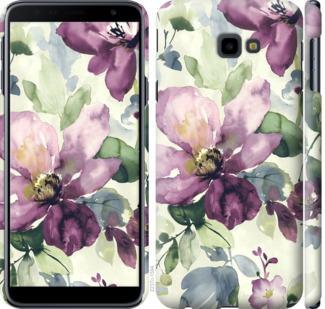 Чехол на Samsung Galaxy J4 Plus 2018 Цветы акварелью
