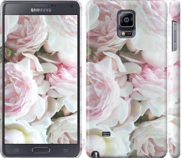 Чехол на Samsung Galaxy Note 4 N910H Пионы v2