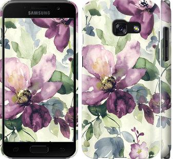 Чехол на Samsung Galaxy A3 (2017) Цветы акварелью