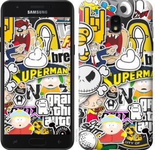 Чехол на Samsung Galaxy J7 2018 Popular logos