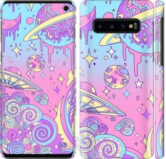 Чехол на Samsung Galaxy S10 Розовая галактика