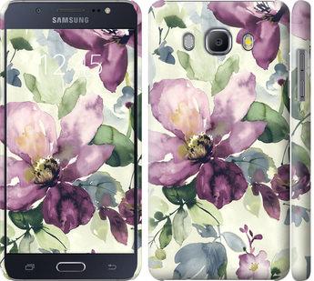 Чехол на Samsung Galaxy J5 (2016) J510H Цветы акварелью