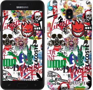 Чехол на Samsung Galaxy J7 2018 Many different logos