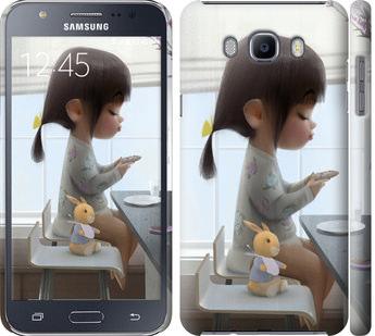 Чехол на Samsung Galaxy J7 (2016) J710F Милая девочка с зайчиком
