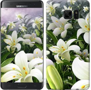 Чехол на Samsung Galaxy Note 7 Duos N930F Белые лилии