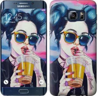 Чехол на Samsung Galaxy S6 Edge Plus G928 Арт-девушка в очках