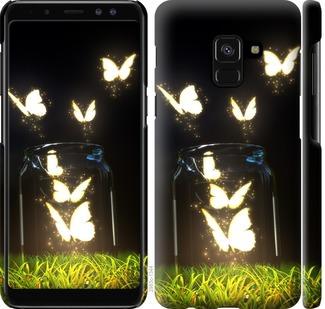 Чехол на Samsung Galaxy A8 2018 A530F Светящиеся бабочки