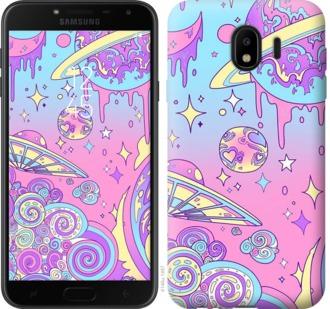 Чехол на Samsung Galaxy J4 2018 Розовая галактика
