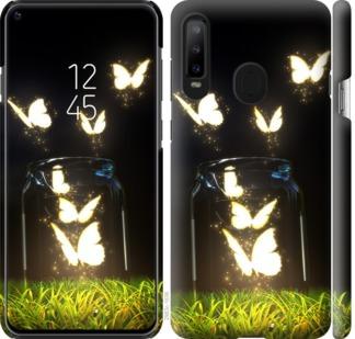Чехол на Samsung Galaxy A8S Светящиеся бабочки
