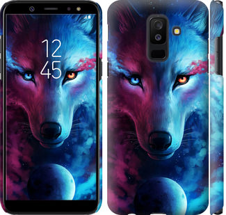 Чехол на Samsung Galaxy A6 Plus 2018 Арт-волк