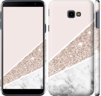 Чехол на Samsung Galaxy J4 Plus 2018 Пастельный мрамор