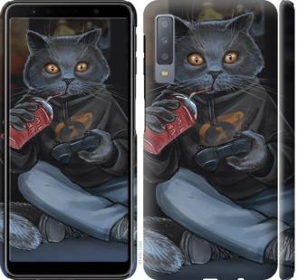 Чехол на Samsung Galaxy A7 (2018) A750F gamer cat
