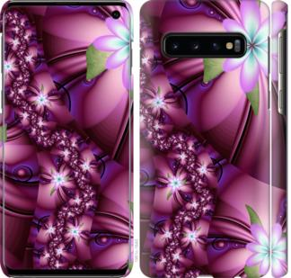 Чехол на Samsung Galaxy S10 Цветочная мозаика