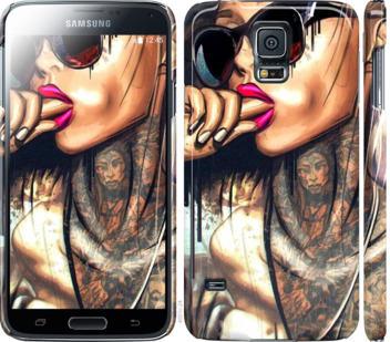 Чехол на Samsung Galaxy S5 g900h Девушка в тату