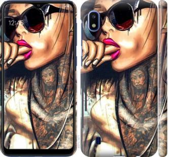 Чехол на Samsung Galaxy A10 2019 A105F Девушка в тату