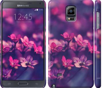 Чехол на Samsung Galaxy Note 4 N910H Пурпурные цветы