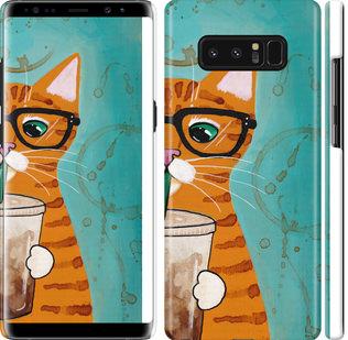 Чехол на Samsung Galaxy Note 8 Зеленоглазый кот в очках