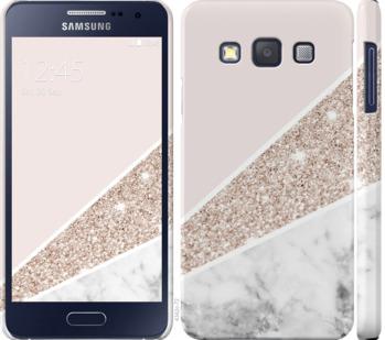 Чехол на Samsung Galaxy A3 A300H Пастельный мрамор