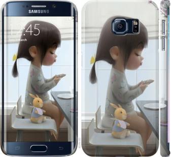 Чехол на Samsung Galaxy S6 Edge G925F Милая девочка с зайчиком