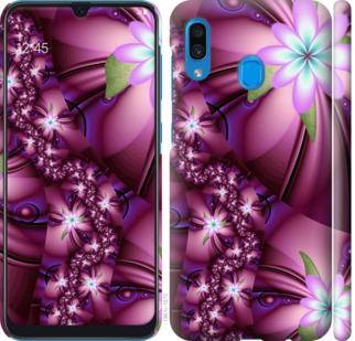 Чехол на Samsung Galaxy A20 2019 A205F Цветочная мозаика