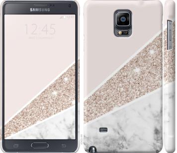 Чехол на Samsung Galaxy Note 4 N910H Пастельный мрамор